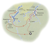 Italian Lakes Map